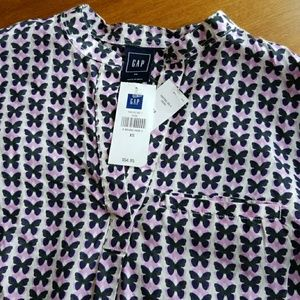 GAP Tops - GAP Maternity Mandarin collar butterfly blouse